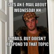 Gets an e mail about wednesday hh e mails but doesn t respond to that topic 56a1d9