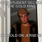 Dubs student section the gold mine no gold on jerseys 0a1249