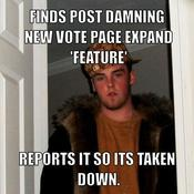 Finds post damning new vote page expand feature reports it so its taken down 3fe648