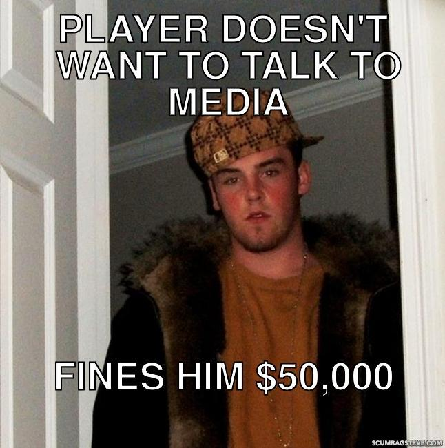 Player doesn t want to talk to media fines him 50 000 30a20d