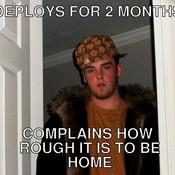 Deploys for 2 months complains how rough it is to be home 854449