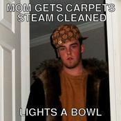 Mom gets carpets steam cleaned lights a bowl c31bcb