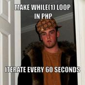 Make while 1 loop in php iterate every 60 seconds 543b2e