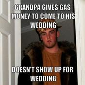 Grandpa gives gas money to come to his wedding doesn t show up for wedding dc6c54