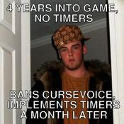 4 years into game no timers bans cursevoice implements timers a month later 725cd7