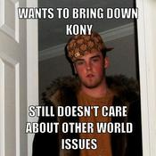 Wants to bring down kony still doesn t care about other world issues ad1125