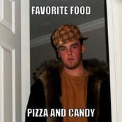 Favorite food pizza and candy 45fffa