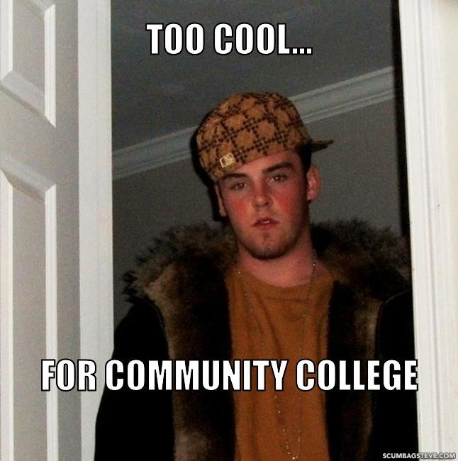 Too cool for community college 7f25c6