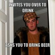 Invites you over to drink asks you to bring beer 302103