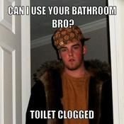 Can i use your bathroom bro toilet clogged 3e0a3f