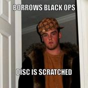 Borrows black ops disc is scratched 4890c2