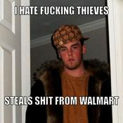 I hate fucking thieves steals shit from walmart 56b8f9