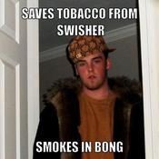 Saves tobacco from swisher smokes in bong d808c1