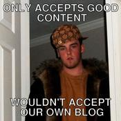 Only accepts good content wouldn t accept our own blog c3aa1e