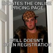 Updates the online pricing page still doesn t open registration 915677