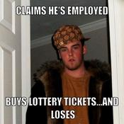 Claims he s employed buys lottery tickets and loses 03c909