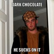 Dark chocolate he sucks on it 06ea5b