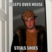 Sleeps over house steals shoes 179f59