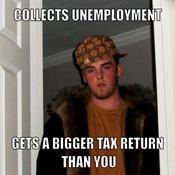 Collects unemployment gets a bigger tax return than you 97440b