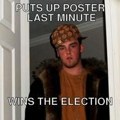 Puts up poster last minute wins the election 0e0616