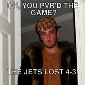 Oh you pvr d the game the jets lost 4 3 3ab6ba