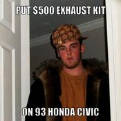 Put 500 exhaust kit on 93 honda civic