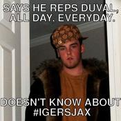 Says he reps duval all day everyday doesn t know about igersjax a68b60