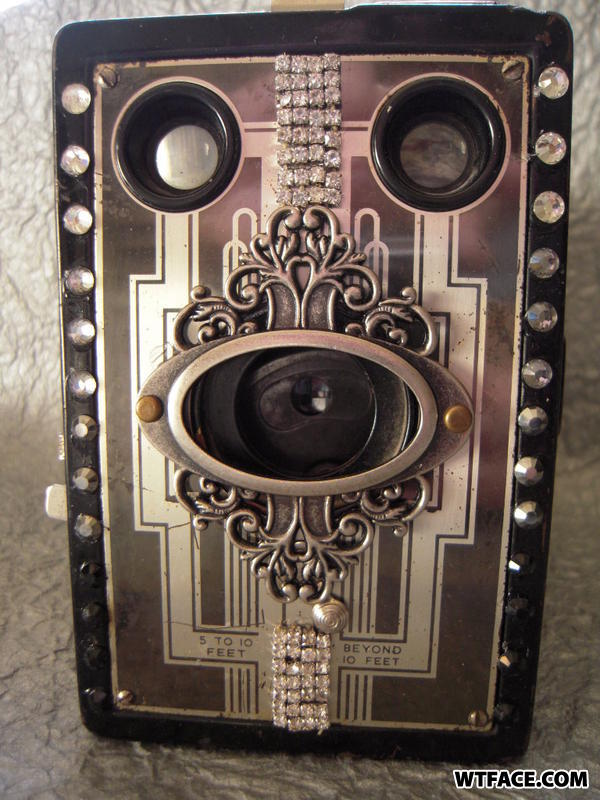 Blinged out box camera circa 1930
