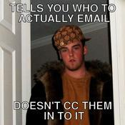 Tells you who to actually email doesn t cc them in to it 335199