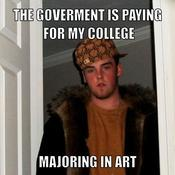 The goverment is paying for my college majoring in art cf749a