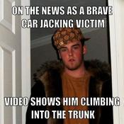 On the news as a brave car jacking victim video shows him climbing into the trunk fe0cef
