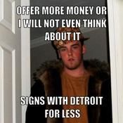 Offer more money or i will not even think about it signs with detroit for less e70e85