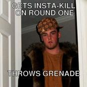 Gets insta kill on round one throws grenade 5127fa