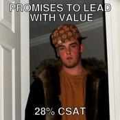 Promises to lead with value 28 csat 727aba