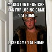 Makes fun of knicks fan for losing game 1 at home lose game 1 at home 7aa53d