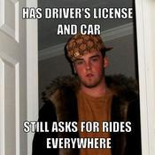 Has driver s license and car still asks for rides everywhere 4cf225