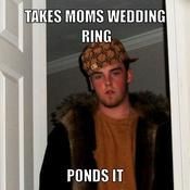 Takes moms wedding ring ponds it 203e85