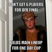 Can t get 6 players for bfb final fields main lineup for one day cup 392dea