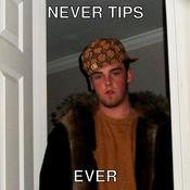Never tips ever 3e2d65