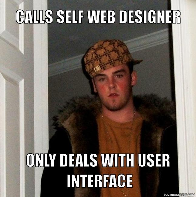 Calls self web designer only deals with user interface cba854