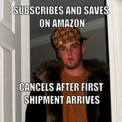 Subscribes and saves on amazon cancels after first shipment arrives c7669b