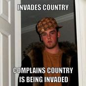 Invades country complains country is being invaded 8287f7