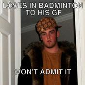 Loses in badminton to his gf won t admit it ac55e4