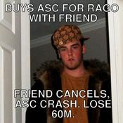 Buys asc for rago with friend friend cancels asc crash lose 60m d7369a