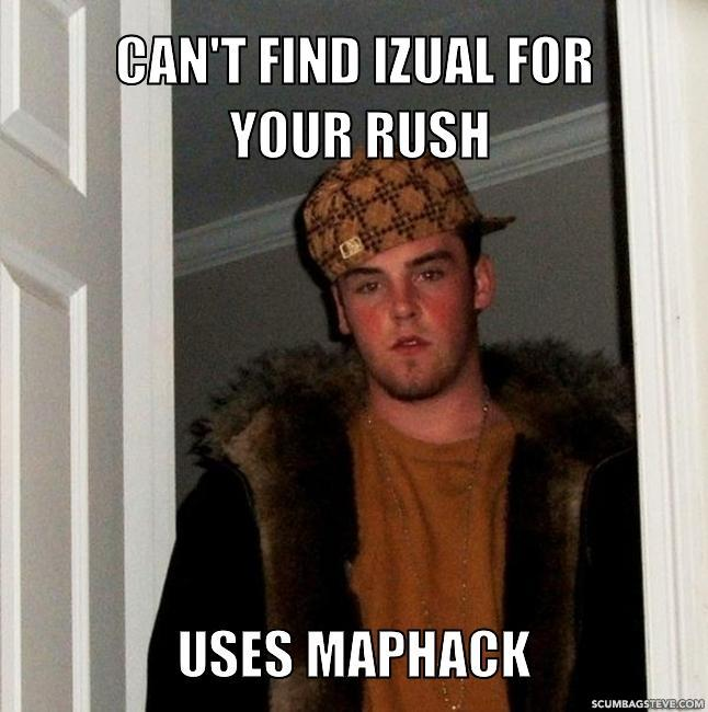 Can t find izual for your rush uses maphack f29818
