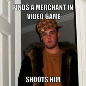 Finds a merchant in video game shoots him 34b5c7