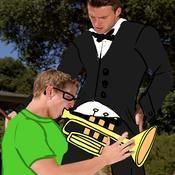 Playing the trumpet d2bd1b