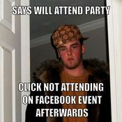 Says will attend party click not attending on facebook event afterwards 1a7712