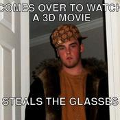 Comes over to watch a 3d movie steals the glasses 14d0ff