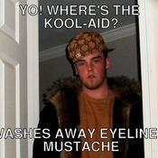 Yo where s the kool aid washes away eyeliner mustache dae5f2